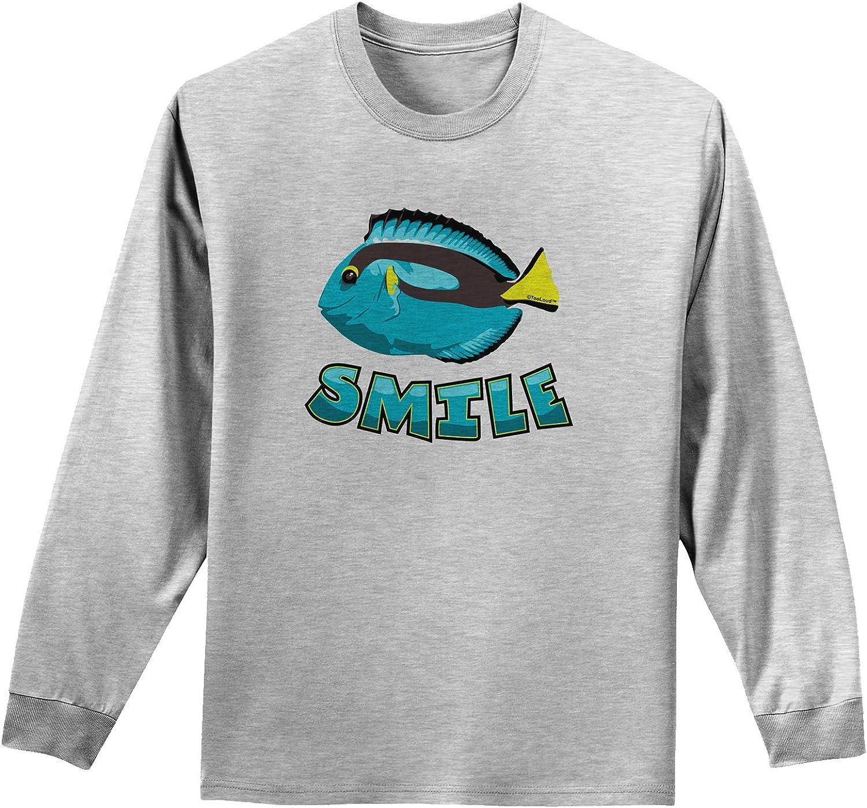 TooLoud Blue Tang Fish Smile Muscle Shirt