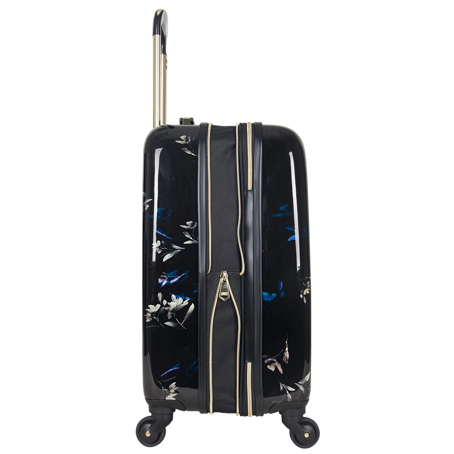 Aimee Kestenberg Women s Midnight Floral 20 Hardside Expandable 4-Wheel Spinner Carry-on Luggage