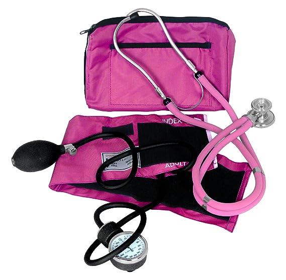 Dixie Ems Kit de presión arterial y estetoscopio Sprague, color rosa: Amazon.es: Salud y cuidado personal