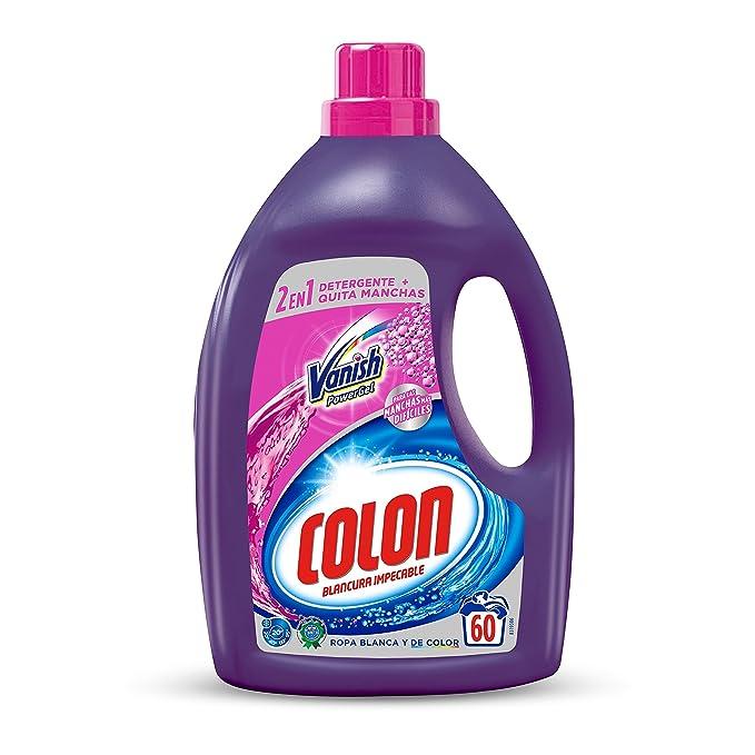 Colon Detergente Vanish Powergel 60 dosis: Amazon.es: Salud y cuidado personal