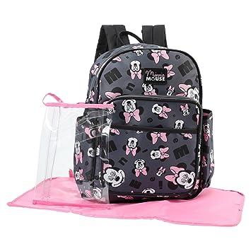Amazon.com   Disney Minnie Mouse Toss Head Print Backpack Diaper Bag ...