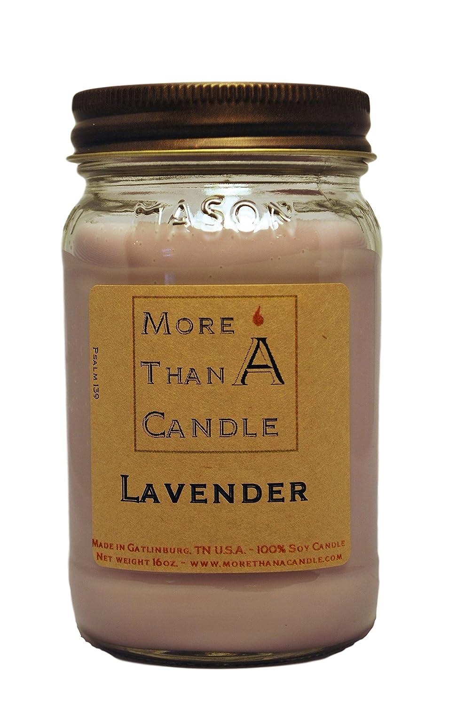 【2018A/W新作★送料無料】 More 16 Than A Candle LDR16M LDR16M 16 oz Lavender Mason Jar Soy Candle, Lavender B079Q4JZLS, 延岡市:079f8295 --- egreensolutions.ca