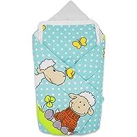 BlueberryShop manta de algodón para bebés con almohada