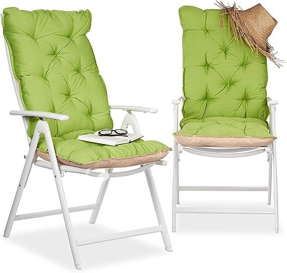 Relaxdays 10023473_53 Copri sedia, Cuscino per Sdraio