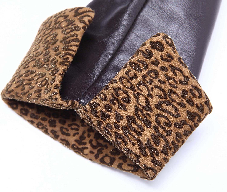 YISEVEN Women Touchscreen Sheepskin Fashion Leather Gloves Cuff