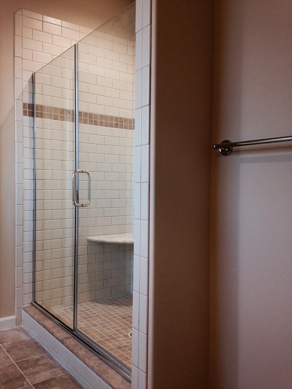 Illusion series 46 in x 70 in frameless hinge swing shower door frameless hinge swing shower door with inline amazon vtopaller Images