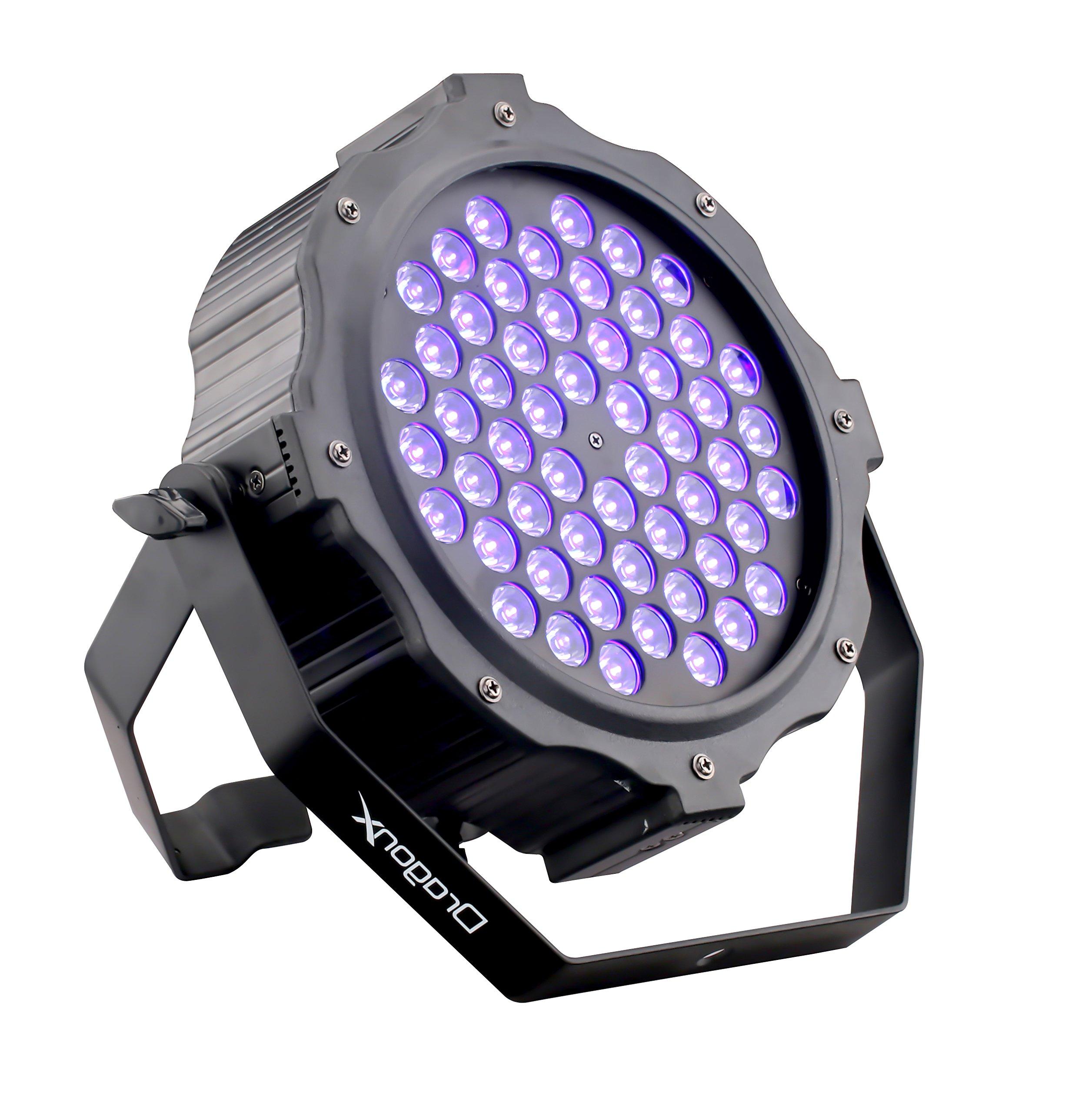 DragonX LED UV Blacklight/ 54X3W Super Bright DJ LED Black Light DMX512 Dimmable Spotlight w/ Strobe by DragonX