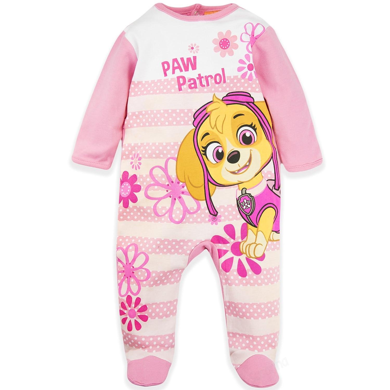 Disney Baby Babies Paw Patrol Girls Sleepsuit Pyjamas Onesie Gift Box 100% Cotton 0-24 Months - New 2018