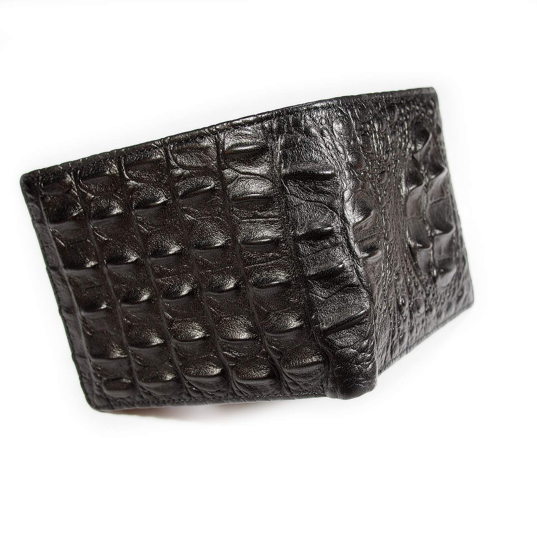 7f8281adab22 Men's Genuine Leather Bi-fold Exotic Wallet Crocodile Alligator Pattern