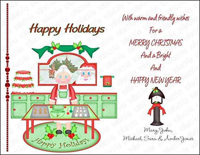 personalized christmas card 1014 digital print your own or printed packs of