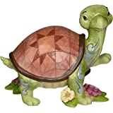 Jim Shore Heartwood Creek Turtle With Flowers Stone Resin Figurine