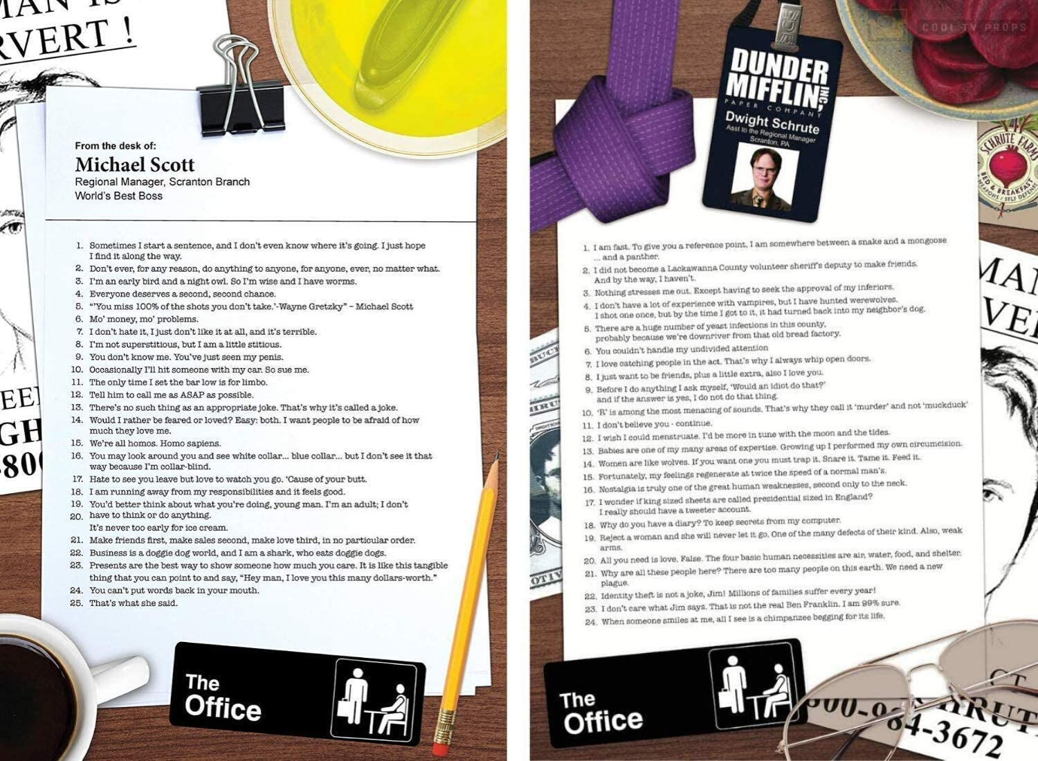 Cool TV Props - The Office Posters (Bundle)