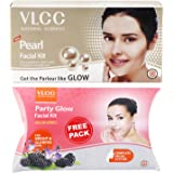 VLCC Pearl Facial Kit, 60g with Free Party Glow Facial Kit, 60g