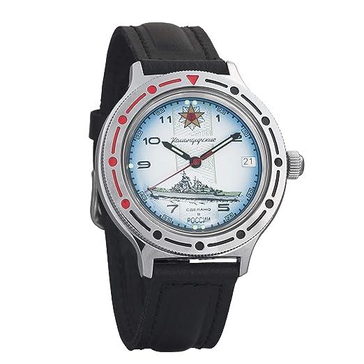 VOSTOK KOMANDIRSKIE - Reloj de Pulsera para Hombre, diseño Ruso automático, 921428: Amazon.es: Relojes