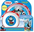 Thomas & Friends Racing Tumbler, Bowl and Plate Set, Blue, Set of 3