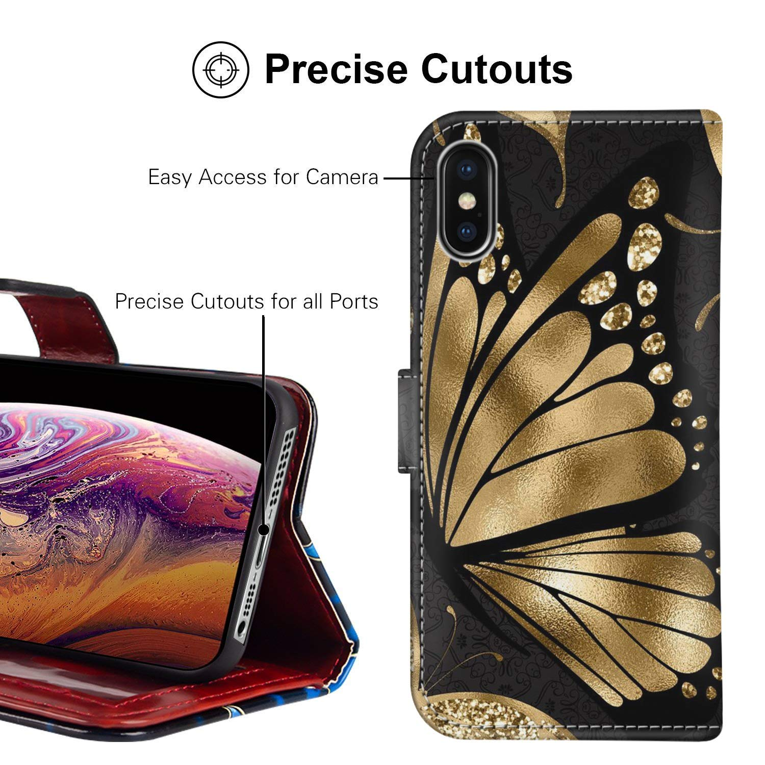 Mobile Phone Accessories Gold Dragon iPhone 6S 6 Plus Wallet Phone Case JQLOVE Apple Series PU Leather Flip Magnetic Clasp with Card Slot Stand Holder Wallet Case for iPhone 6S 6 Plus Gold Dragon