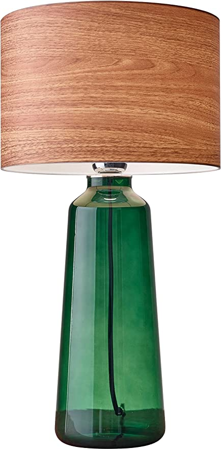Attractive Adesso 6029 05 Jade 22u0026quot; Tall Table Lamp, Green, Smart Outlet Compatible