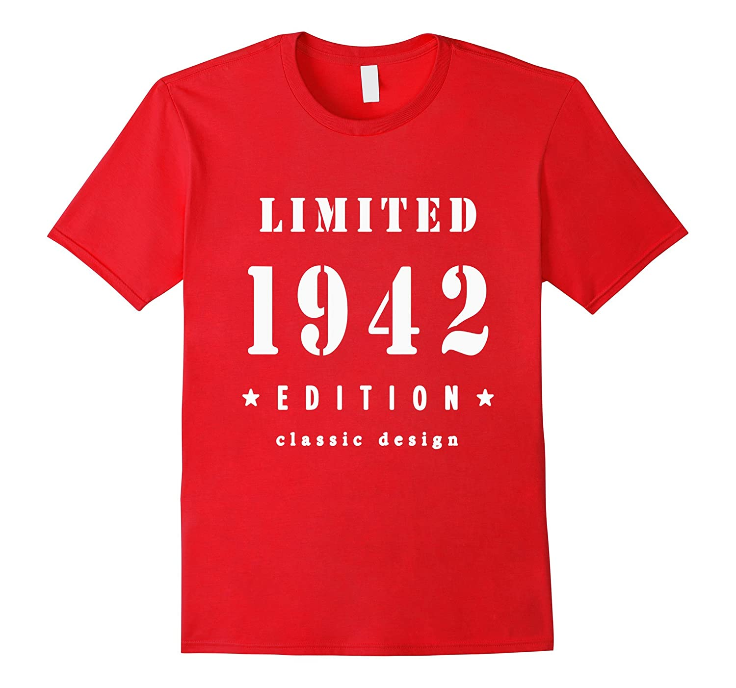 75th Birthday T Shirt Vintage Made In 1942 Gift Ideas Guys PL Polozatee