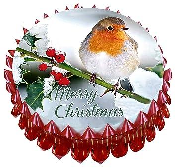 Merry Christmas Kuchen Set D 17 8 Cm 18 Cm Esspapier Reispapier