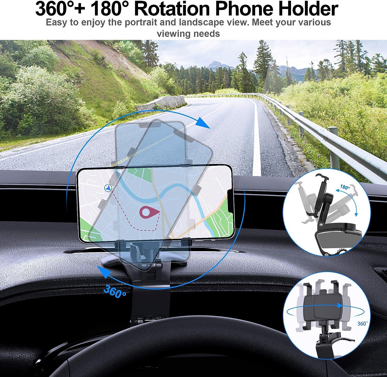 360 degree rotational dashboard clip phone mount