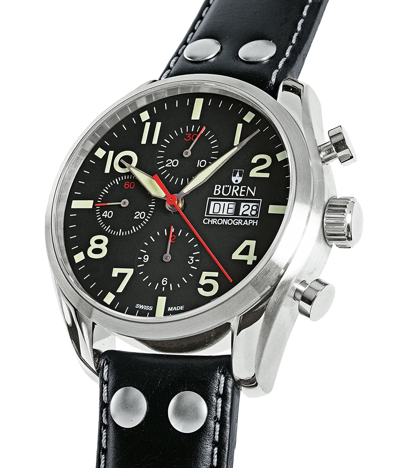 BÜREN Flieger-Chronograph - Herrenuhr - Ø 44 mm