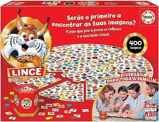 Educa 18403 Lince 400 Imagens. Um Jogo de ação e reflexo para Toda a família. Ref: Amazon.es: Juguetes y juegos