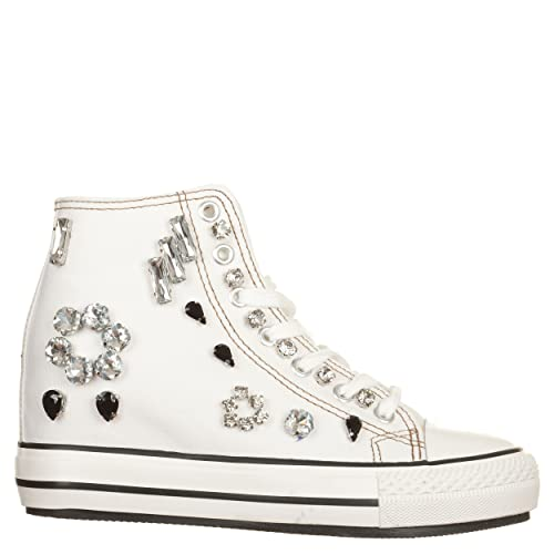De Zapatillas Eu Bianco Mujer Woz Blanco Size Lona Para 37 fFx5xqAT