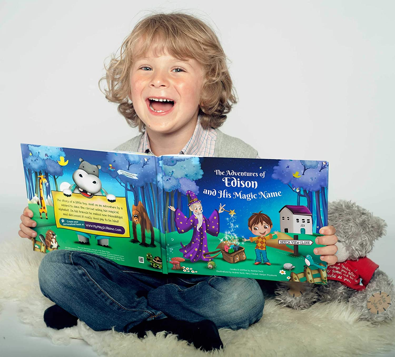 Grandson Granddaughter Gift Book - A Personalised Children's Story