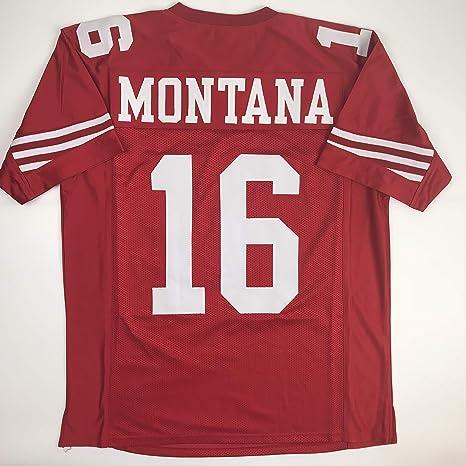 the best attitude 6b6c3 24028 Amazon.com: Unsigned Joe Montana San Francisco Red Custom ...