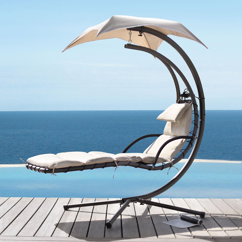 Jarder Dream Hammock Garden Patio Swing Chair Beige Amazon