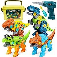 Dreamon Dinosaurios Juguetes para Niños con Caja de Almacenamiento Taladro Eléctrico, Construccion Juguete Dducativos…