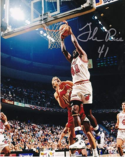best service 298cf 74014 Glen Rice Miami Heat Autographed Signed 8x10 Photo ...