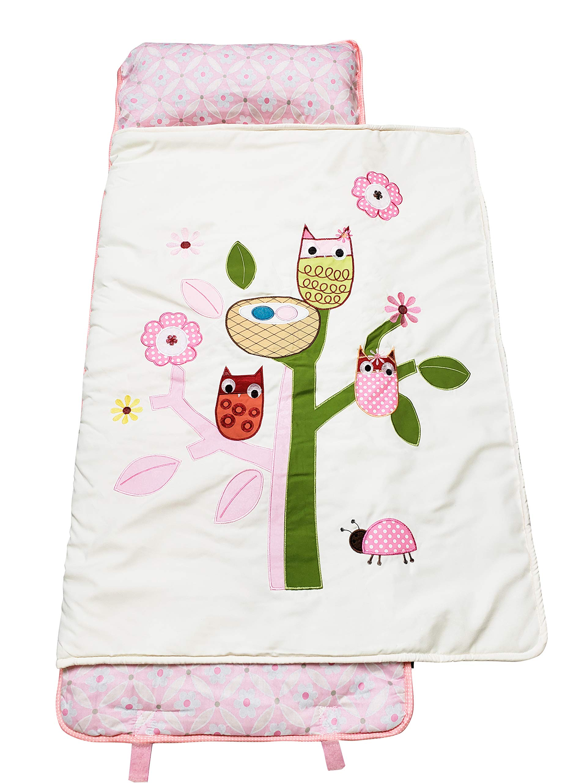 SoHo Nap Mat , Pink Owls Tree (All Hand Embroidery)