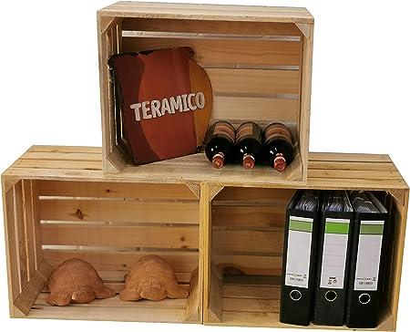 3 Stück NEUE natur Weinkisten Holzkisten