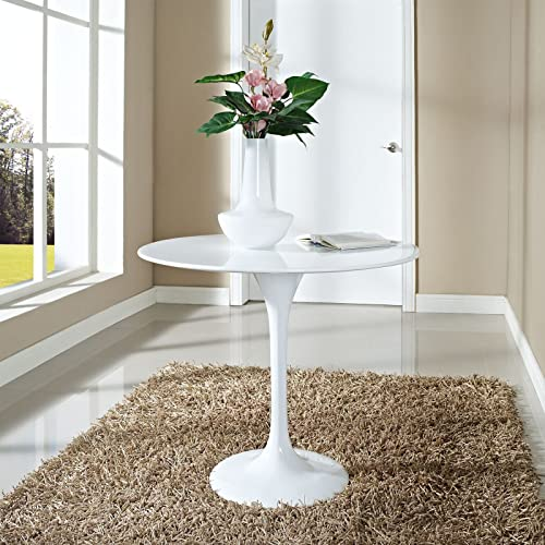 Modway Lippa 36 Fiberglass Dining Table in White