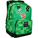 JINX Minecraft Survival Badges Kids School Backpack, Green, 17""