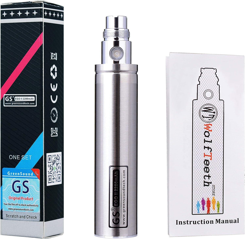 WOLFTEETH GS II 2200 mAh Enorme Batería 2015 Edition 510 cigarrillo electrónico E-Shisha cigarrillo electrónico (Plata)