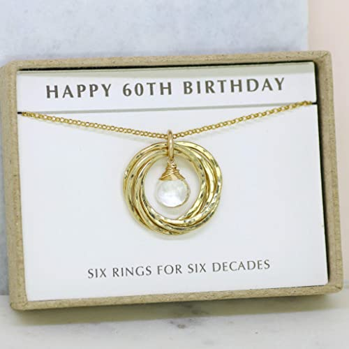 Amazon 60th Birthday Gift April Birthstone Necklace Rock Crystal Jewelry Grandma Mom