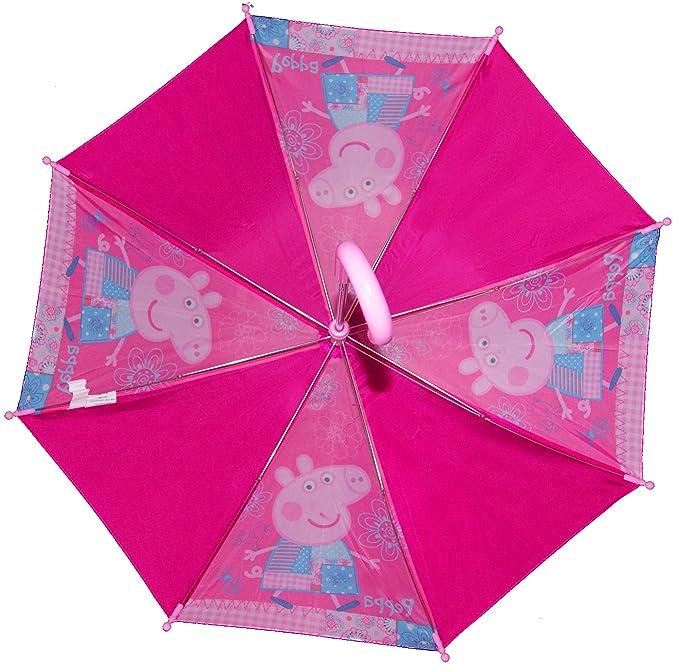 ¡Cerdo adorable de Peppa y paraguas de los niños vibrantes de George Pig! (PINK): Amazon.es: Equipaje