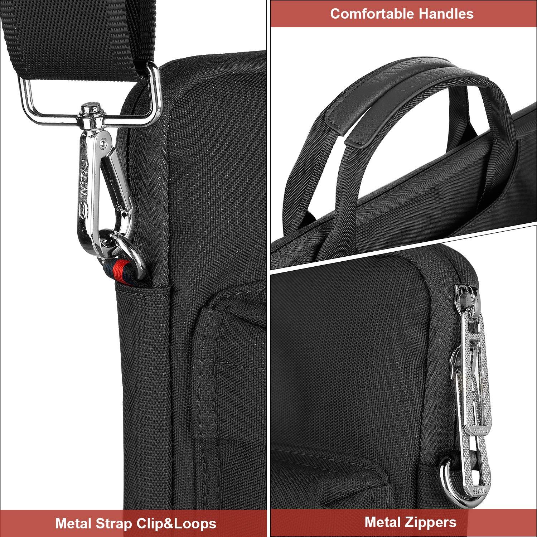 DELL HP EKOOS Malet/ín para Portatil Funda Impermeable y a Prueba de Golpes Compatible con 13-14 Pulgadas Macbook Pro Ultrabook Netbook Tablet
