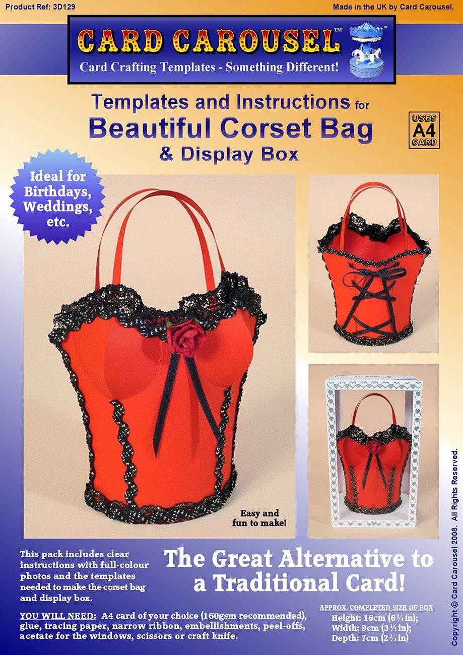 Card Making Templates for 3D Corset Bag & Display Box: Amazon.co.uk ...