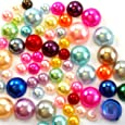600 4mm-8mm Colorful DIY Art Faux Pearls Flat Back Cabochon Mix Colors & Sizeship with samples from GreatDeal68