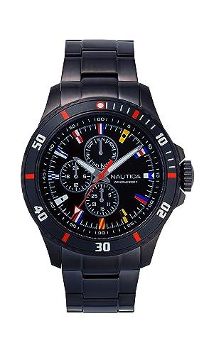 Nautica NAPFRB019 - Reloj de Pulsera Hombre, Acero Inoxidable, Color Gris: Amazon.es: Relojes