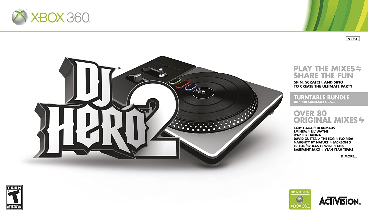 Amazon DJ Hero 2 Turntable Bundle Xbox 360 Video Games