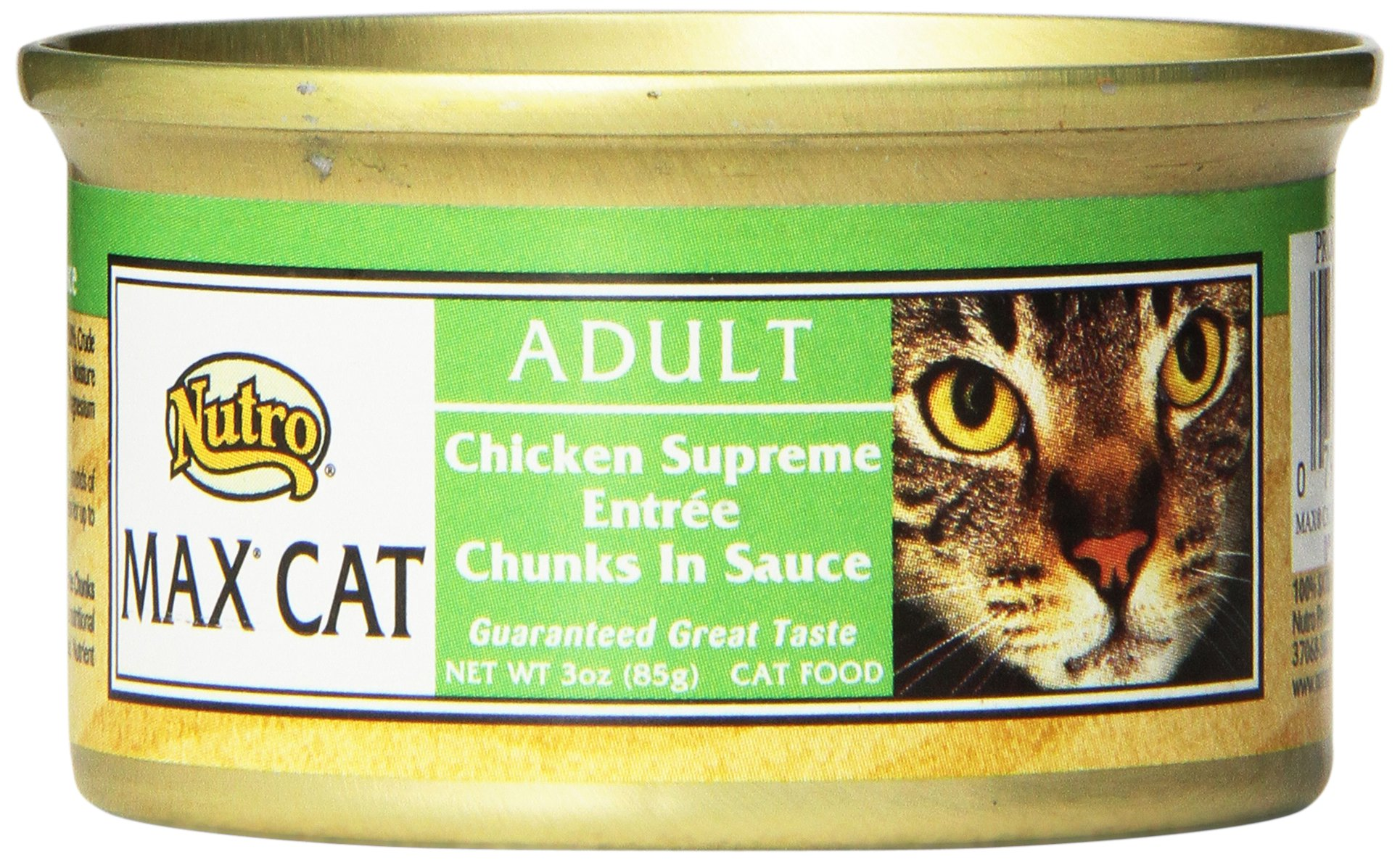 Nutro Max Cat Adult Chicken Supreme Entrée Chunks In Sauce Canned Cat Food,3Oz-(Pack Of 24) by Nutro