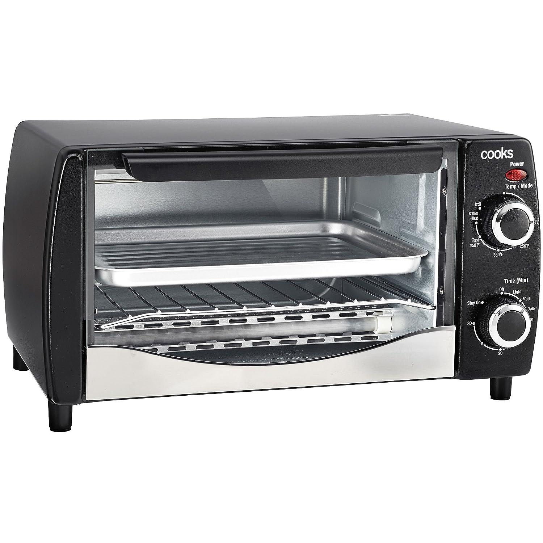 Cooks Brand Kitchen Appliances Amazoncom Cooks 4 Slice Toaster Oven Kitchen Dining