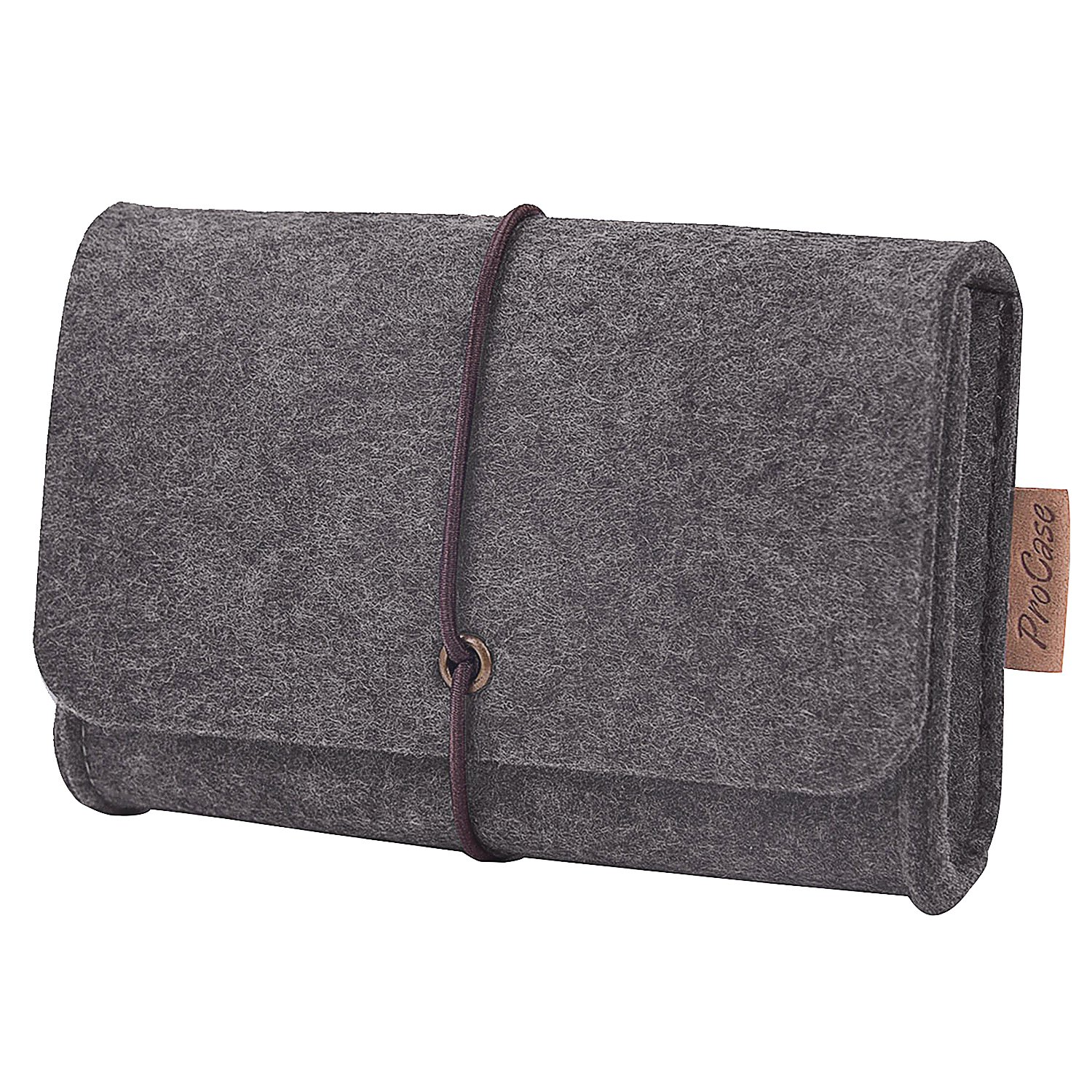 ProCase Felt Storage Case Bag Accessories Organizer for MacBook Laptop Mouse Power Adapter Cables Computer Electronics Cellphone Accessories Charger SSD HHD -Silver Grey 6867598