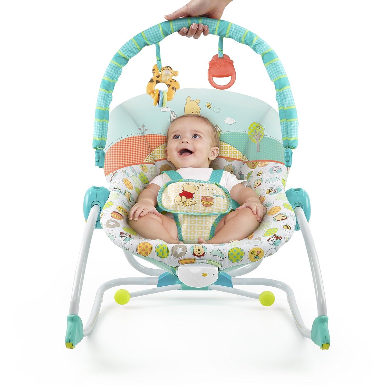 amazon com disney winnie the pooh baby to big kid rocking seat baby