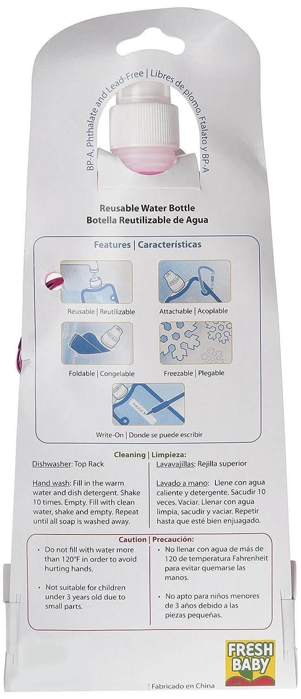 Dulce bebé 2 Pack plegable botella de agua, diseño de maternidad, 16 oz: Amazon.es: Bebé
