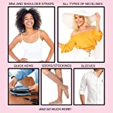Womens Clear Double Sided Fashion Tape for Clothing and Body (75 Strips)- Strong Adhesive for All Skin Tones and Fabric by Secret Sidekick